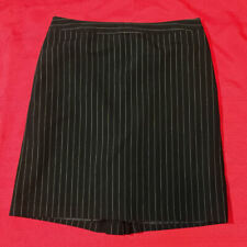 GEORGE ME - SKIRT - Black White Pin Stripe - Side Zip Back Flare - Women Size 12