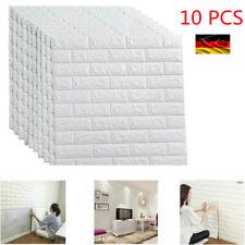 3D 10 Tlg Wandpaneele Ziegel Tapete Selbstklebend Wandaufkleber Panel Wasserfest