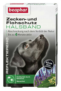 Beaphar 15246 Zecken- und Flohschutz Halsband reflektierend, Hund
