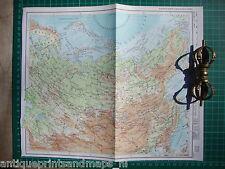 Old map Soviet Union USSR Asien Russia 1975 karte Sowjetunion Asien