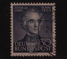 GERMANY #695 Used 1953 JUSTUS VON LIEBIG, Chemist SCV $22.50