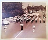 Vintage Photograph May Day Festival Downtown Parade Marching Band Baton 8 x 10