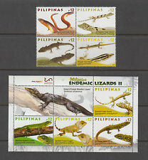 Philippine Stamps 2017 Endemic Lizards Complete set MNH