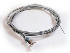 Choke Cable Chrome Knob 6' Holley Carter Quadrajet Edelbrock Weber Stromberg AFB