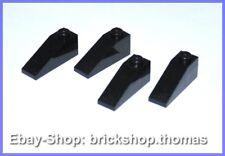 Lego 4 x Dachstein Schrägstein schwarz (1 x 3) - 4286 - Black - NEU / NEW