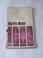 Morris Minor 1000 Original Drivers Handbook 1970 Pub. No. AKD 3922 17th edition