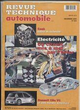 Revue Technique Automobile : Electricité ,le circuit / Renault Clio V6