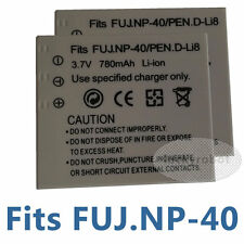 2pk Battery for PENTAX DL-i8 DLi8 D-L18 NP-40 FNP40 Optio A10 L20 FinePix F650