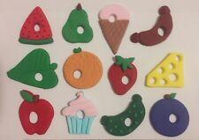 Edible The HUNGRY CATERPILLAR Piece Set X 12 topper Cake Cupcake book theme