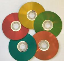 5 PCS LightScribe Colored CD-R, 52X Disc Storage 700MB In Paper Sleeves 5 colors
