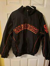 Majestic Authentic San Francisco Giants MLB Baseball Jacket Black Orange Sz XL