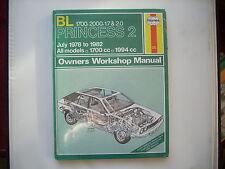 BL PRINCESS 1700 2000 July 1978 to 1982  Haynes  Manual New Old Stock