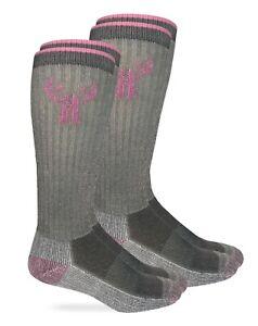 Huntworth Womens Soft Angora Merino Wool Warm Cushion Outdoor Boot Socks 2 Pack