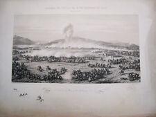 Batalla Tetuan 4 febrero 1860.Litografia original. Madrid.Donon 1861