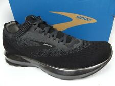 MEN'S Brooks Levitate 2 Running Athletic Shoes SZ 9.5 M, Black Silver Metallic
