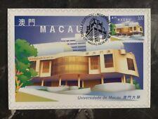 1999 Macau PostCard Exhibition Cover University Of Macau 3 Pataca Stamp