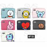 BTS BT21 Official Authentic Goods PU Square Pouch Large 170x120x65mm + Tracking#