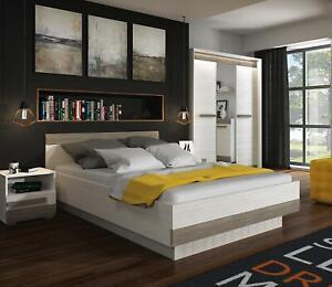 Bedroom Set Complete Sleep Furniture Cabinet Nightstand Dresser Bed 4 Pieces