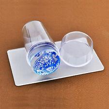 Transparent Soft Gel Nail Stamping Stencil Stamper Scraper Image Print Plate