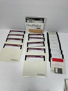 """Vintage WordPerfect 6.0  5.25"""" Diskettes and Manuals Collectors software"""