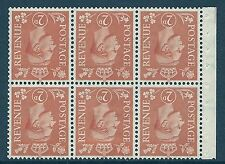 QB30a perf type Ie - 2d Pale Orange Booklet pane wmk inverted MOUNTED MINT