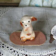 Vtg Hagen Renaker? Porcelain Puppy Dog Figurine Dollhouse Miniature Pet Animal