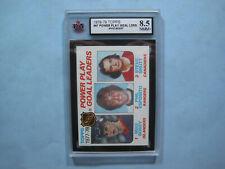 1978/79 TOPPS NHL HOCKEY CARD #67 MIKE BOSSY ROOKIE LEADER KSA 8.5 NM/MT SHARP!!