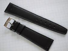Omega Speedmaster black leather strap 21 mm lug size & buckle size is 16 mm