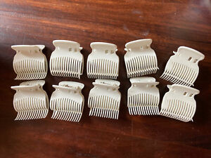 Lot of 10 Hot Roller Hair Curler Claw Clips Replacement Clips