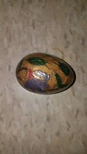 solid brass decorative egg paperweight
