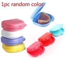 Dental Retainer Box Case Dentures Sport Mouthguard Brace False Teeth Storage