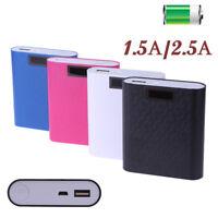 1.5A/2.5A USB Digital Display Power Bank Case Shell 18650 Battery Holder DIY Box