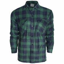 NEW MENS BRUSHED FLEECE CHECK SHIRT WINTER BUTTON TOP LUMBERJACK CASUAL M-XXXL