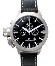 Danish Design IQ13Q888 45mm Chronograph Black Dial Leather Quartz Men's Watch