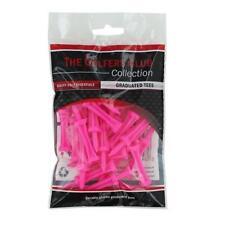 The Golfers Club Golf Graduated Pink Plastic Tees (2.25 Inch x 25)