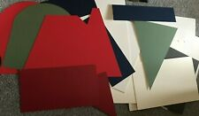 BOX OF 25 MOUNTBOARD MOUNT BOARD THICK CARD OFF CUTS VARIOUS SIZES COLOURS SHAPE