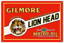 Gilmore Lion Head Motor Oil Reproduction Gas Station Metal Sign - 18 x 30 RVG118