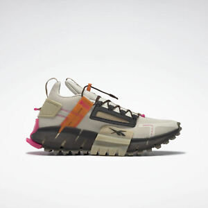 Reebok Zig Kinetica Edge [FV3835] Men Running Shoes Alabaster/High Vis Orange