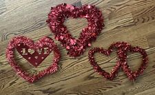 Valentine Heart Lot Tinsel Wreath Cardboard Diecut Love Wreath 16�