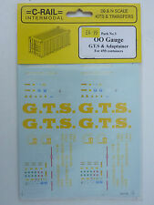=C-Rail=Pack 3 - OO Gauge Transfers GTS & Adaptainer for 45' Containers.