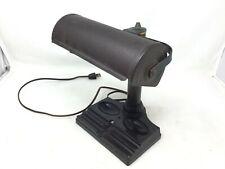 Vintage Atlas Appliance Bakelite Steel Banker Desk Lamp Art Deco Light