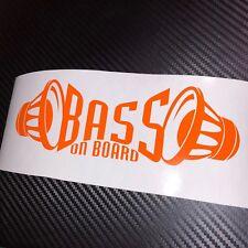 ORANGE Bass a bordo Auto Adesivo Decalcomania Grafica VDub Drift JDM GHIACCIO SPL SUBWOOFER