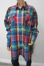 Ablanche Men's Shirt Bold Checks Plaid Multi Colored Long Sleeve  Size 3XL