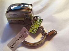 NWT Coach Camper Trailer Key Chain Ring 61431 Working Wheels Lime/Silver Rare!