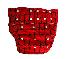 Adult cloth diaper with 4 layer microfiber insert, incontinence- SPIDERWEB