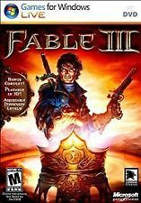 BRAND NEW! FACTORY SEALED! Fable III PC DVD Role Playing Games For Windows Live