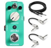 Mooer Green Mile Overdrive Guitar Effects Pedal with Hosa Cables!