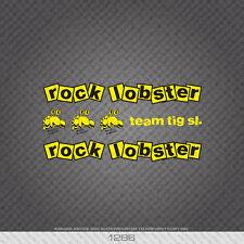 01286 Rock Lobster Bicicletta Adesivi-Decalcomanie-Transfers-Giallo