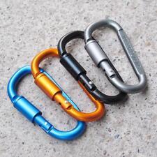 D Shaped Aluminum Alloy Carabiner Clip Hook Ring Key Chain Buckle (Random Color)