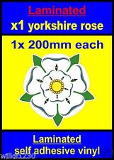 Laminated 1x 200mm Yorkshire Rose decal car Scooter stickers vespa flag